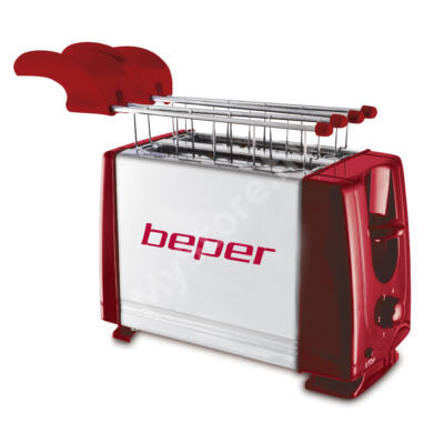 Beper 90.482H Kenyérpirító - piros 650W